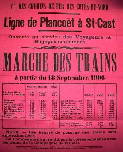 Ligne tram stcast affiche